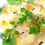 LADYBIRD - 料理写真:新鮮なお魚のカルパッチョ