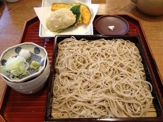 天神房丸新 - お昼のそば懐石(1000円)