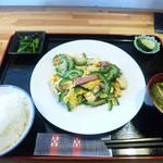 ひまわりcafe - ゴーヤチャンプル
