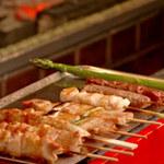 炭火串文化 あぶりや - ミニホットプレートで、温かい状態で美味しくお召し上がりください!