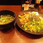 ラーメン康竜 - 全体(ゆず塩つけ麺)
