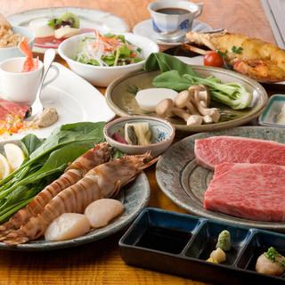 最高級黒毛和牛ステーキを満喫できる鉄板ステーキ&シーフード