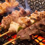 八女炭蘇鶏の串焼五種