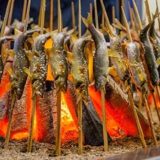 鮎の庄 - 料理写真:鮎の炭火焼