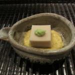 GINZA 水野 - 胡麻豆腐 とうもろこしのすり流し