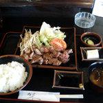 カツ・ステーキ専門店 さわや - ステーキ(ダブル)定食
