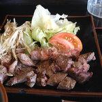 カツ・ステーキ専門店 さわや - ステーキ(ダブル)定食アップ