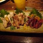 こうじん・やきとり居酒屋 - 料理写真:川辺地鶏のお刺身