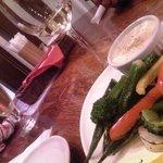 21063559 - 本日の炭火野菜のフォンデュ風