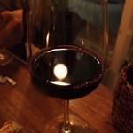 浮島ガーデン - オーガニックの赤ワインをボトルで頂きました。