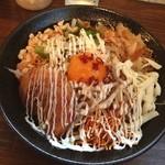 まぜそば専門店 豊平探偵団 - まぜそばドフラー麺¥700(フェザー級)