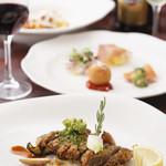 オーヴェスト - セレクトディナーは(5,800円~)前菜、パスタ、メインディッシュ、デザートからお好みの料理をお選びいただけます。