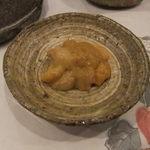 鮨の一幸 - 塩雲丹 ムラサキ 美味しい。