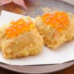 天ぷら ひさご - 鮭いくらのせ