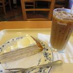 ドトールコーヒーショップ - レモンミルクレープ、アイスカフェラテ