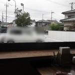 びぃcafe - 自分たちの席から見える景色です