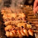 鶏冠 - 料理写真:店主が1本1本丁寧に焼き上げます。