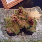 しーさ - 2013.9. 付き出しのゴーヤのお寿司
