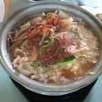 ふる里 - (2013年8月再訪)豚クッパ(750円)は、野菜、豚モツ、筋肉がゴロゴロ♪