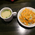 21090119 - 最初にスープとサラダ