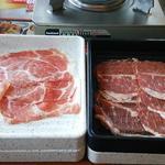 夢庵 - 料理写真:三段目は「豚ロース」
