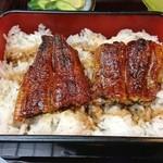 かんたろう - 下段には鰻とご飯