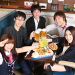 鉄道居酒屋 LittleTGV - 宴会コースは乗務員と一緒に乾杯できます♪