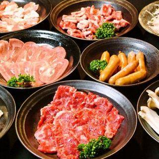 バラエティ豊かなお肉を楽しめる、お得なコース料理