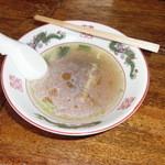 ガード下食堂 - アツアツで最後まで飲めなかったスープ