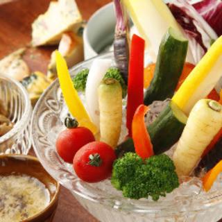 静岡県産の野菜 素材の味をお楽しみ頂けます。