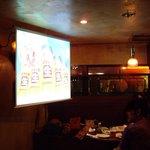 アイリッシュパブ タラモア - OptioA30:店内の大画面スクリーン