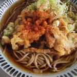 駅そば みかど - 海鮮かき揚げ蕎麦(500円)