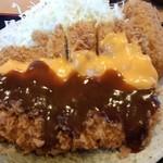 とんかつかつきち - カニクリームコロッケとチキンチーズカツ定食 ¥934
