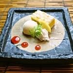 和 Dining なごみ - 【カボチャタルトのバニラアイス添え】カボチャタルトは一度食べたらハマる旨さ!