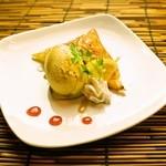 和 Dining なごみ - 【サクサクパイと芋のアイスキャラメル掛け】サクサクパイと芋とアイスの相性がたまりません◎
