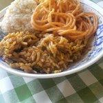 白亜館 - そば飯、スパゲティ、玄米おにぎり