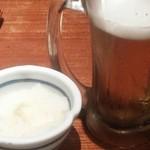 21122722 - 生ビールと大根おろし