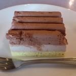 トラットリア マルーモ - TRATTORIA Maruumo 台場店 本日のランチに付くデザート チョコクリームケーキ