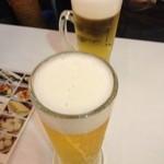 21126373 - 上七軒ビアガーデンの生ビール(13.07)