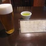 笊そば 蕎すけ - 「中生ビール」、'日替わり御膳'