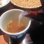 笊そば 蕎すけ - 蕎麦湯:多少の粘度は加えられている
