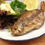 とんかつ 安右衛門 - えぼ鯛唐揚げ              丸ごと食べられます       フワフワでパリパリ!