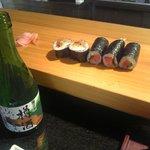 いさみ寿し - やっぱり日本酒 今日は菊正の樽酒