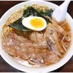 ラーメン大将 - 大将麺(醤油味) \700 デカめなどんぶりになみなみと!かなりのボリュームです。