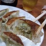 辛麺屋 桝元 - 餃子 中身