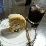 21132584 - ルローっていうロールケーキ・・・フルーツいっぱいで美味しかったです。