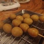 竹茂 - これ好きです! うずら卵,しかもカレー風味。
