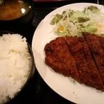 炭火焼肉英 - ビフカツ定食