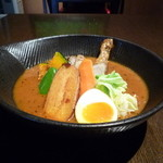 スープカレーlavi - チキンto野菜カレー 焙煎エビスープ仕立て