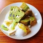 ミズサキノート - 抹茶あずきのシフォンケーキ